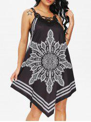 Tribal Print Sleeveless Dress -