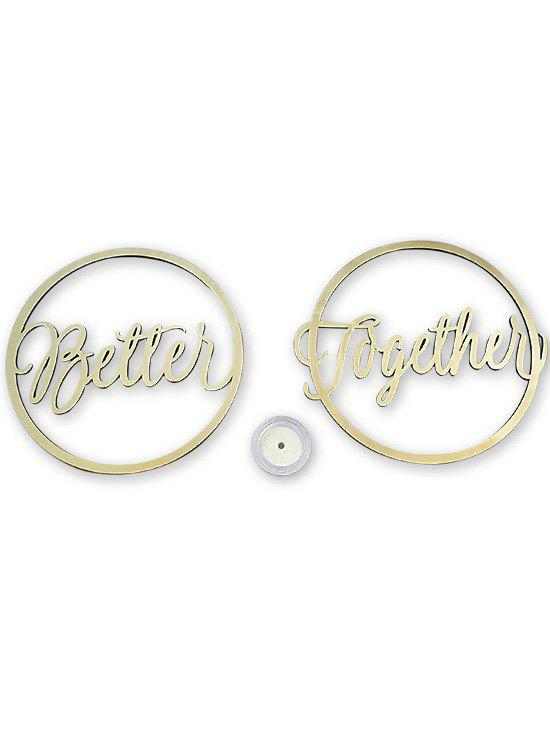 Outfits Better and Together Chair Signs Wedding Decor