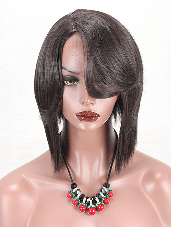 Buy Side Parting Short Straight Synthetic Wig with Flip Bang