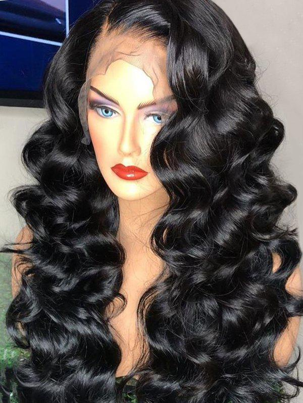 Cheap Long Side Parting Loose Wave Lace Front Synthetic Wig