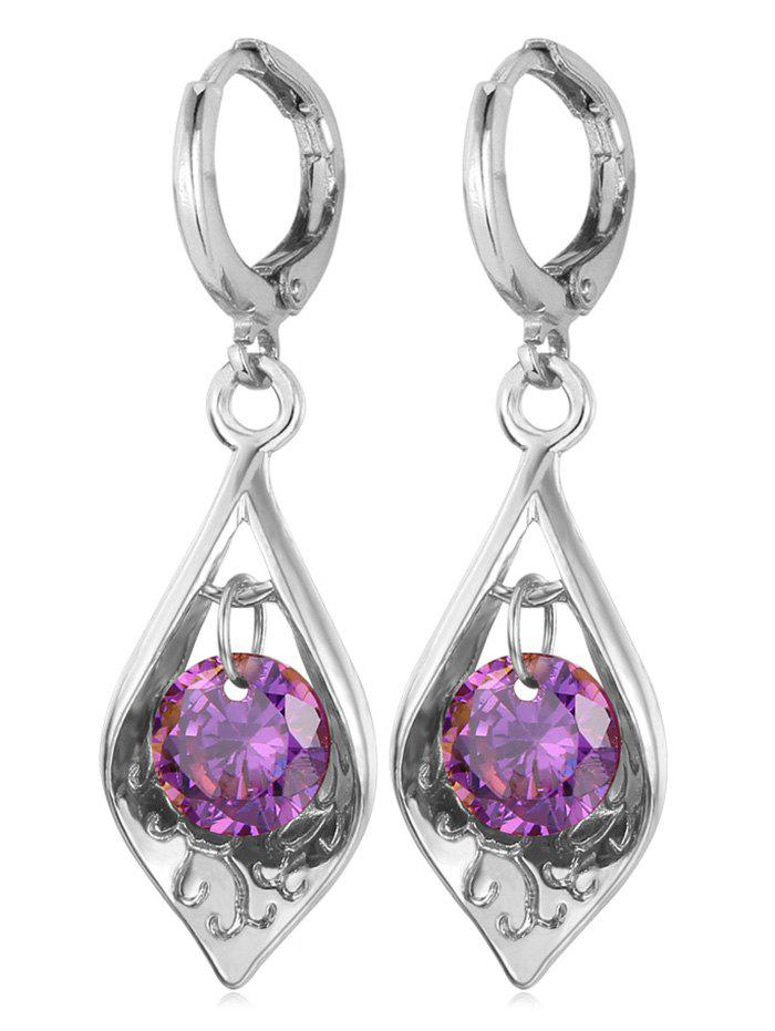 Affordable Synthetic Crystal Water Drop Designed Drop Earrings