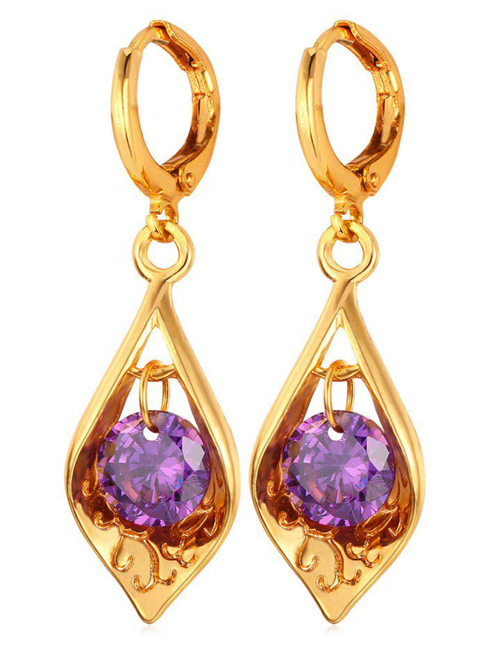 Online Synthetic Crystal Water Drop Designed Drop Earrings