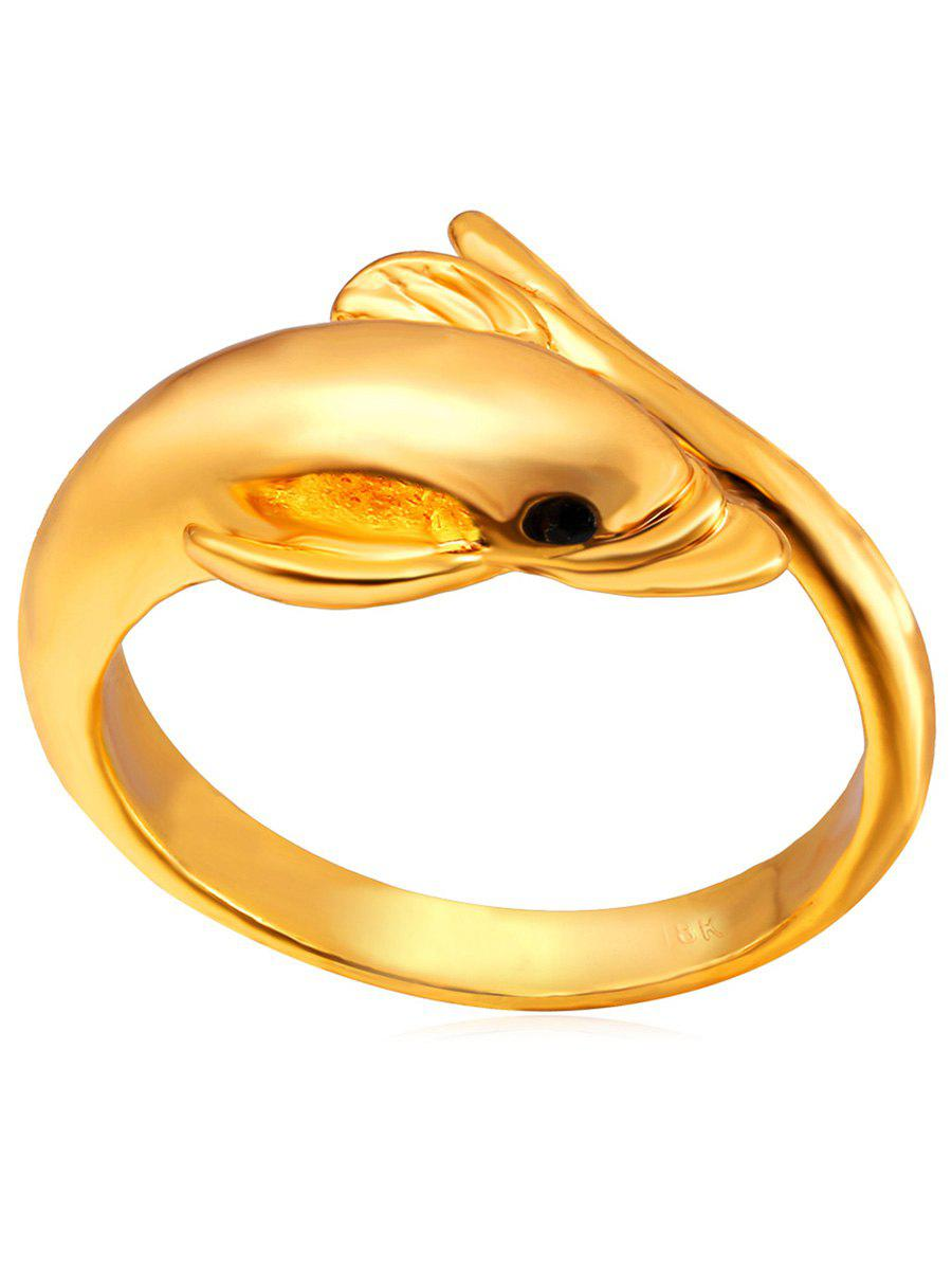 Trendy Pretty Carving Dolphin Ring