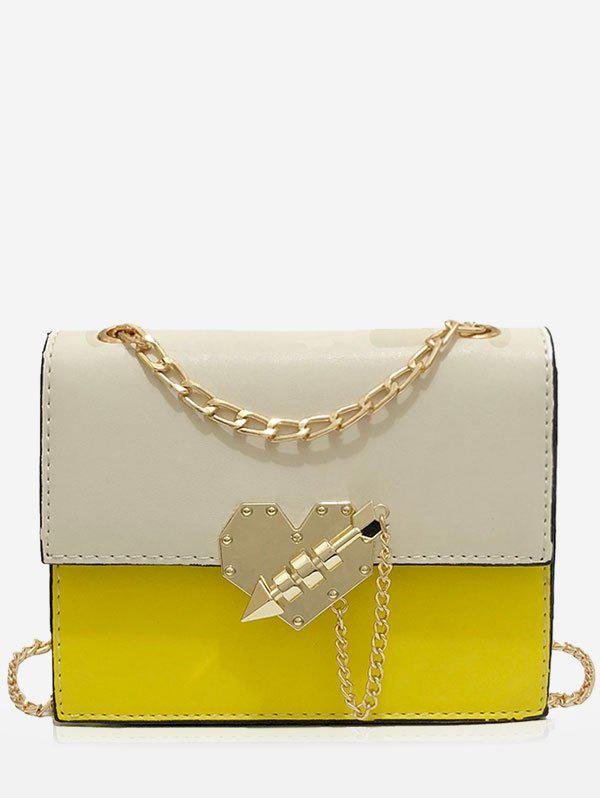 Discount Chic Color Block Metallic Flapped Crossbody Bag