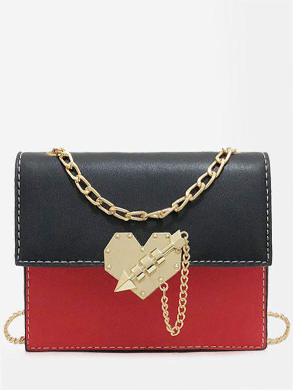 Chic Chic Color Block Metallic Flapped Crossbody Bag
