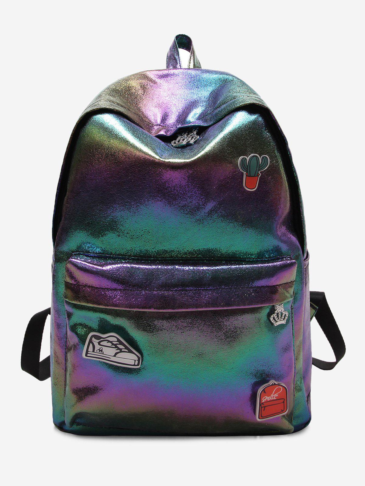 Unique Outdoor Travel Causal Patchwork Backpack