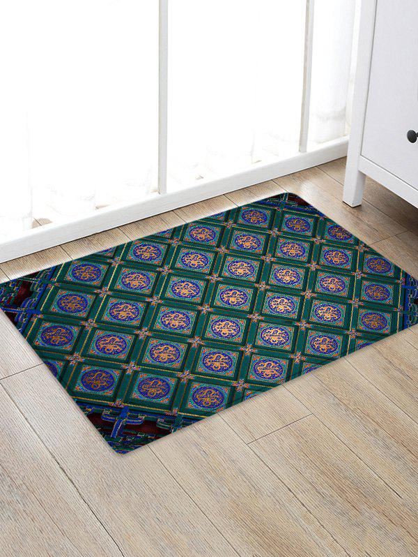 Latest Vintage Geometric Pattern Non Slip Floor Rug
