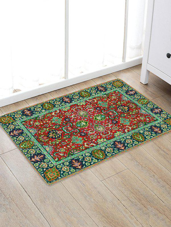 Trendy Colorful Flowers Print Antiskid Floor Rug