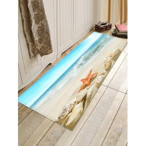Conch Starfish Sea Beach Scenery Printed Antiskid Floor Mat -