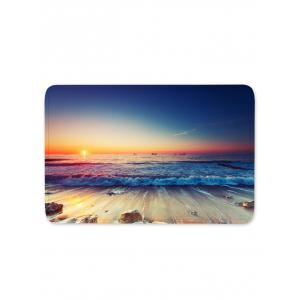 Sunset Sea Waves Scenery Printed Area Mat -