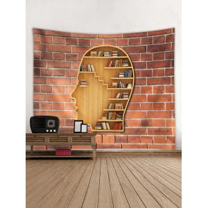 Brain Shaped Wall Bookshelf Print Wall Hanging Tapestry -