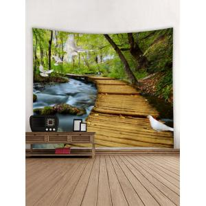 Forest Bridge Print Wall Decor Tapestry -