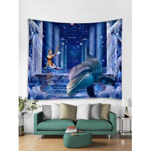 3D Dolphin Palace Print Wall Hanging Art Fabric Tapestry -