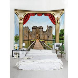 3D Castle Print Wall Hanging Tapestry -
