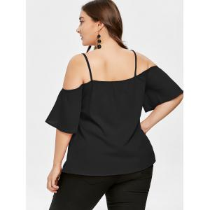 Plus Size Open Shoulder Cami Blouse -
