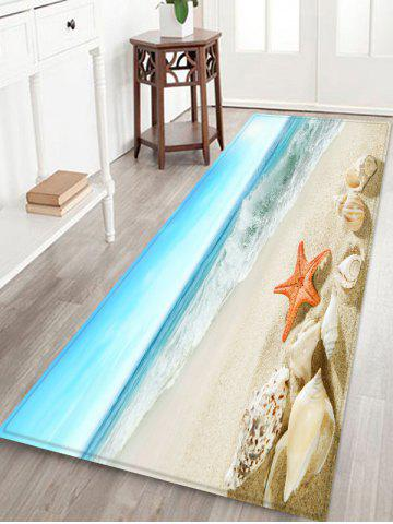 Outfits Conch Starfish Sea Beach Scenery Printed Antiskid Floor Mat