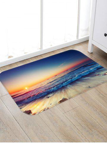 Store Sunset Sea Waves Scenery Printed Area Mat