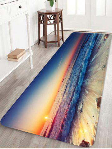 Online Sunset Sea Waves Scenery Printed Area Mat