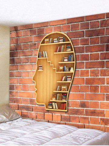 Trendy Brain Shaped Wall Bookshelf Print Wall Hanging Tapestry