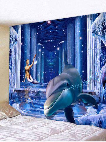Shops 3D Dolphin Palace Print Wall Hanging Art Fabric Tapestry