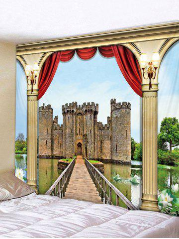 Hot 3D Castle Print Wall Hanging Tapestry