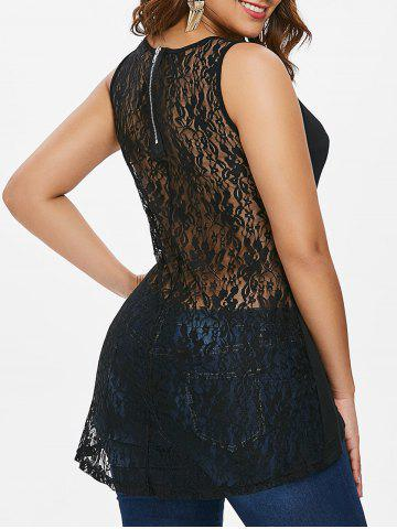 Shop Rivet Lace Panel Tank Top
