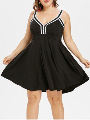 Outfit Plus Size Sleeveless Fit and Flare Dress