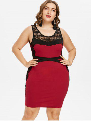 Sheer Lace Plus Size Dress Free Shipping Discount And Cheap Sale