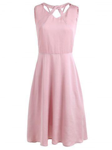 New Cut Out Neck Vintage Swing Dress