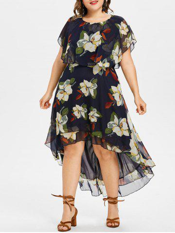 Outfits Plus Size Floral High Low Dress