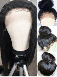 Long Side Bang Straight Lace Front Synthetic Wig -