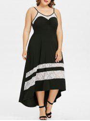 Plus Size Lace High Low Slip Dress -