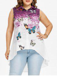 Plus Size Butterfly Longline Tank Top -