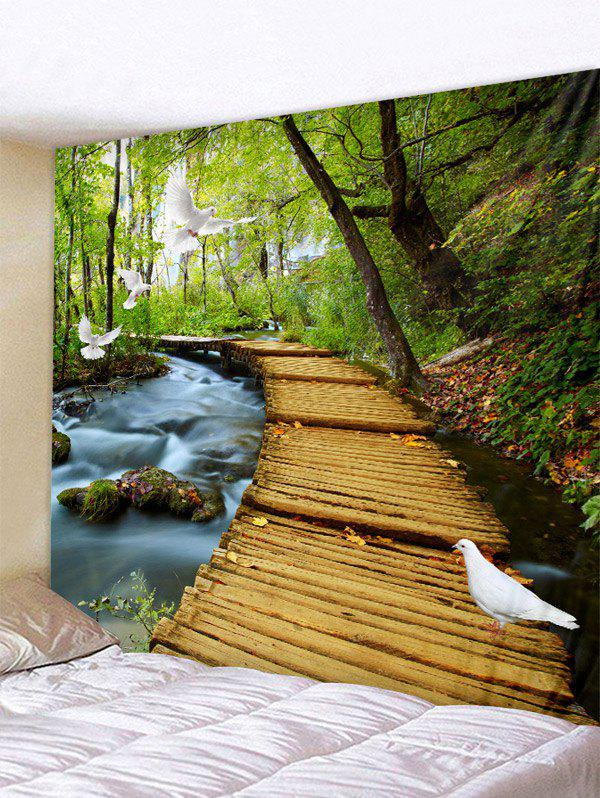 Shop Forest Bridge Print Wall Decor Tapestry