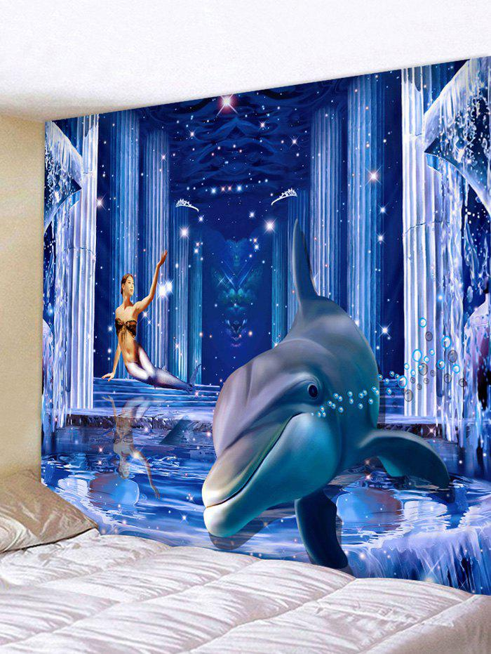 New 3D Dolphin Palace Print Wall Hanging Art Fabric Tapestry