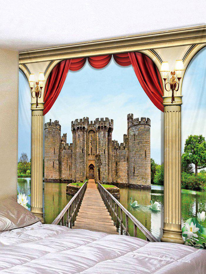 Store 3D Castle Print Wall Hanging Tapestry