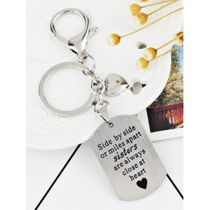 Metal Label Decorative Key Chain -