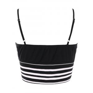Striped Padded Cropped Camisole -