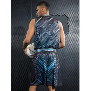 Costume de basket-ball à imprimé Quick Dry Circle -