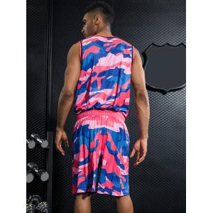 Quick Dry Colorful Camo Print Basketball Suit -