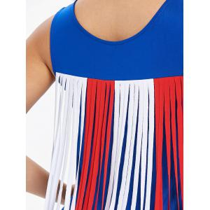 Breast Pocket Back Tassel Insert Tank Top -