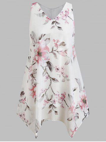 Shops Plus Size Floral Handkerchief Dress