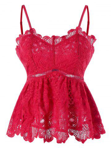 Outfit Spaghetti Strap Floral Lace Tank Top