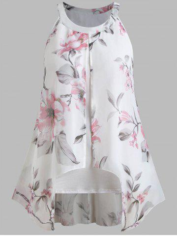 Plus size floral print blouse free shipping discount and cheap 46 floral print plus size sleeveless chiffon blouse mightylinksfo