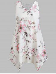 Plus Size Floral Handkerchief Dress -