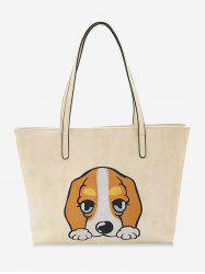 Cartoon Embroidery Leisure Shopping Bag -