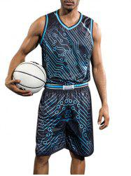 Quick Dry Circle Print Basketball Suit -