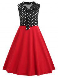 Vintage Polka Dot Insert Swing Dress -