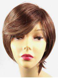 Short Side Bang Colormix Straight Party Synthetic Wigs -