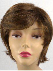 Short Oblique Bang Straight Synthetic Wig -